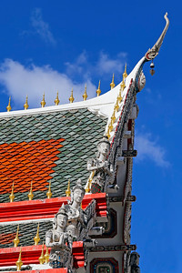 Thai Temple Roof Design (Angels) (1)