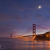 Half moon over Golden Gate
