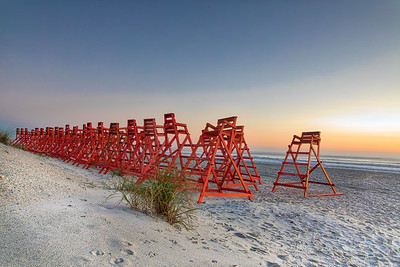 JAX Bch Lifeguard Chairs sunrise-2