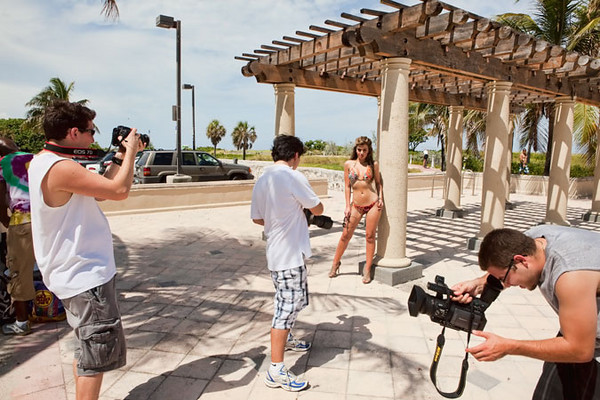 I now have as many if not more cameras pointed at me on my shoots as my models do.