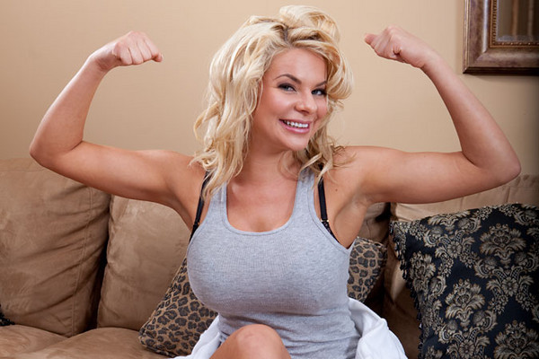 Heather! My god, woman! Look at those. You have enormous... um ...biceps!
