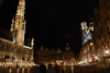 Nocturnal Grand Place (Market Square) - Stadhuis (Town Hall) - and many guild halls - Brussels