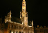 Nocturnal view of the Stadhuis (Town Hall) - Brussels