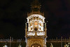 Nocturnal view of the main tower and spire - Staudhuis (Town Hall) - Brussels