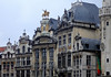 The lintils, entablatures, tympana, and pediments - of the guild halls - Grand Place (Market Square) - Brussels