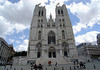 St. Michael and St. Gudula Cathedral - the present church in Gothic arhitecture style began with the choir in 1226 - the facade was completed in the mid 15th century - Brussels