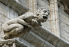 Allegoric sculpted figure along the facade of the Town Hall - Brussels
