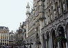 Southeast corner of the Grand Place (Market Square) - showing the Stadhuis (Town Hall) - Brussels