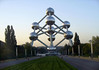 Late evening sunlight upon the Atomium - adjacent to the Osseghem Park - Brussels