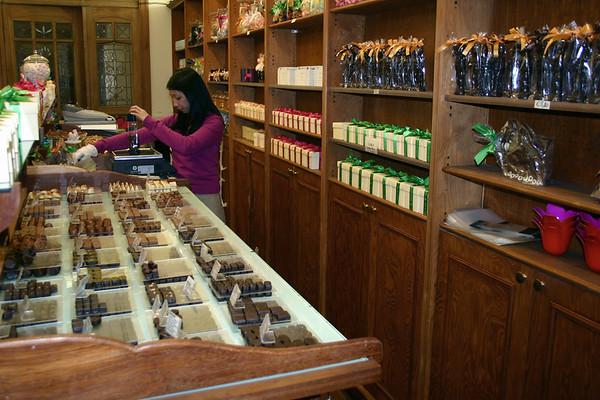 Belgium chocolate shop