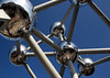 Atomium - constructed of steel-clad (with aluminum being the outer sheath) - Brussels