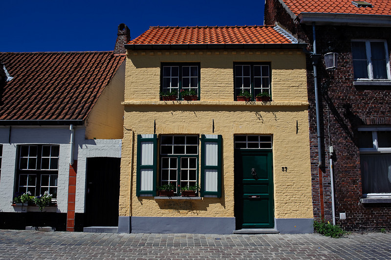 Typical houses in Brugge, Belgium