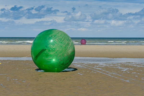 Water-ball on the beach