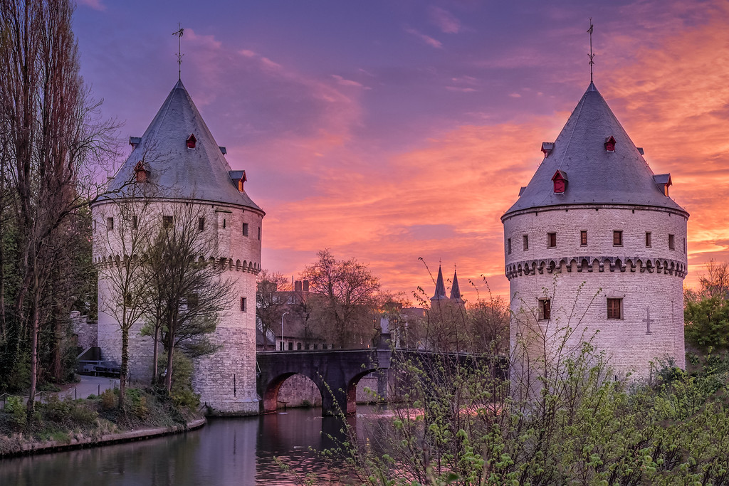 Broel Towers, Kortrijk - almost 600 years old