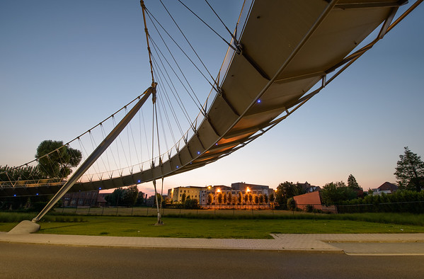 Pedestrian bridge over the river Leie, Kortrijk