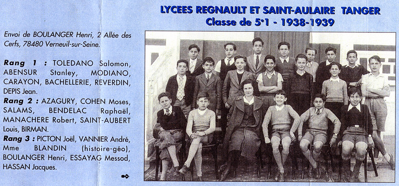 Raphaël with classmates - 1939