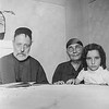 Clairette & grandparents Rabbi Jacob & Lea Cohen nee Nahon - ca. 1935/36
