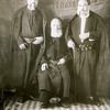 Yaacov Cohen Bibas (l), father Hayim (c) & brother Eliaou (r)