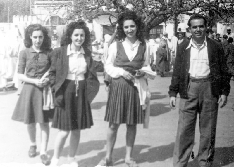 Clairette, Alegria, Lea & David - March 1946