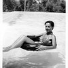 Sefrou - Alegria floating in an inner tube - August 1952