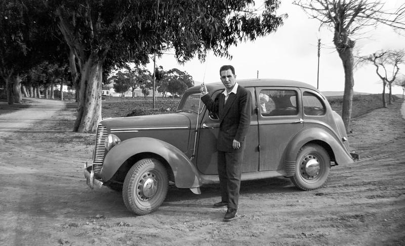 Raphaël by his Triumph - January 1952