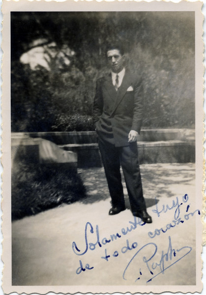 Raphaël with note to Alegria - May 11, 1947