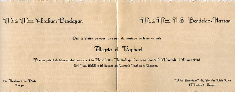 Alegria & Raphaël's wedding invitation