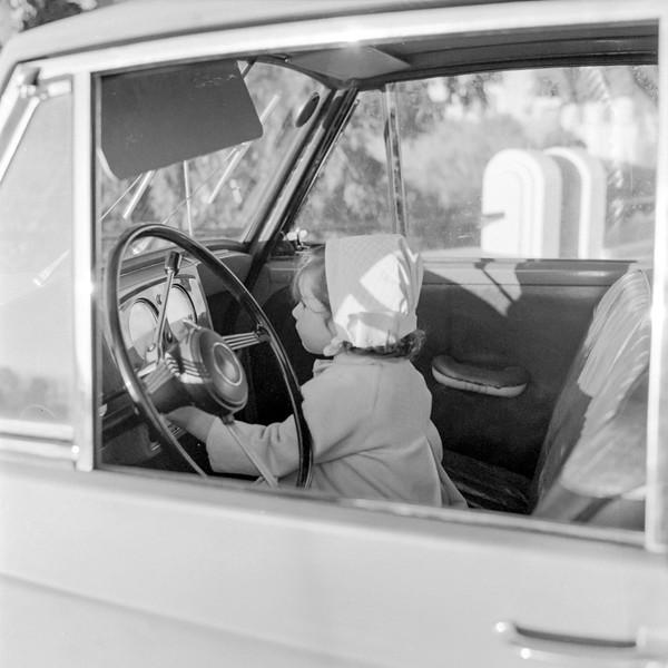 Mercedes behind the wheel - February 1957