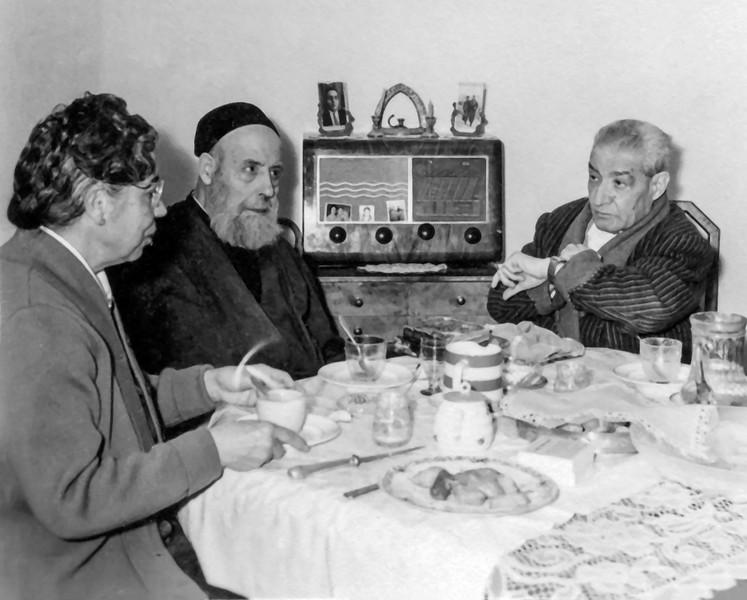 Mamé with father Jacob & Abraham circa 1954