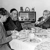 Mamé with father Jacob & Abraham circa 1954