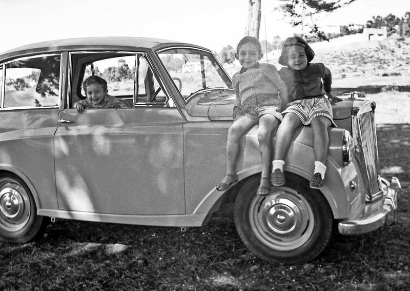 Mercedes with cousins Michael & Jacques