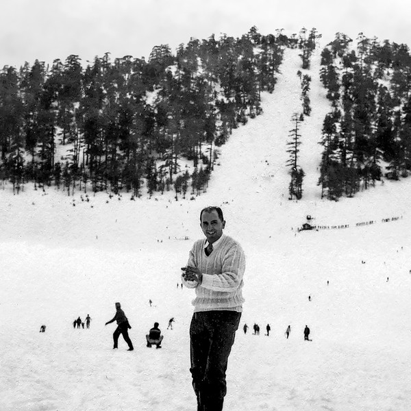 Raphaël by ski slope circa 1954