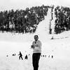 Raphaël by ski slope circa 1954