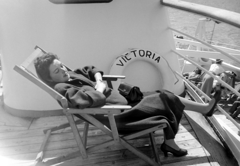 Alegria on the Victoria returning from Gibraltar - May 1954