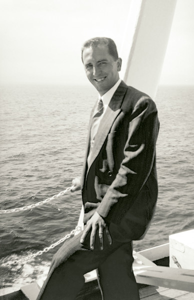 Raphaël on the Victoria to see Queen Elizabeth II in Gibraltar - May 1954