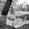 Lisita on lawn - 1958