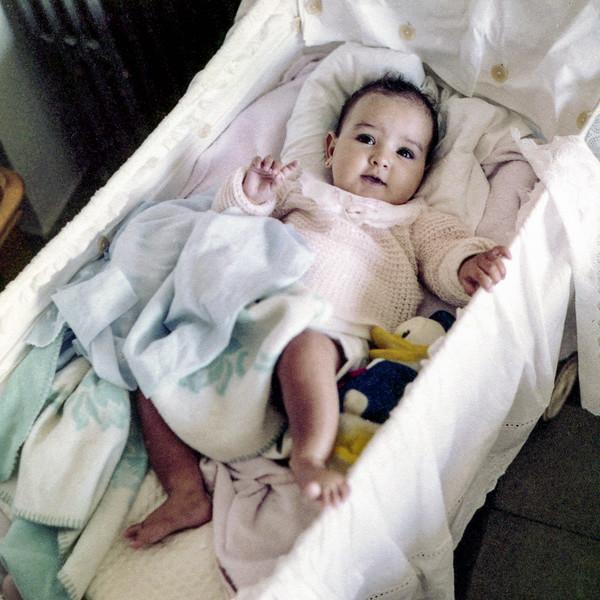 Lisita in crib - June 1958