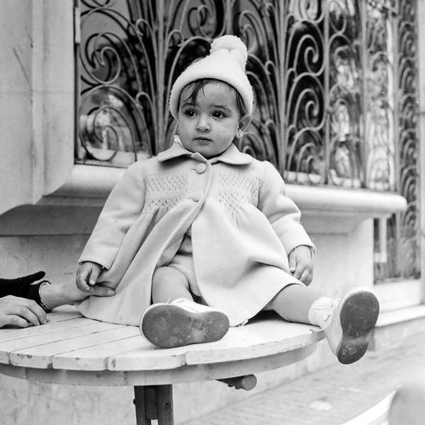 Lisita on table - January 1959