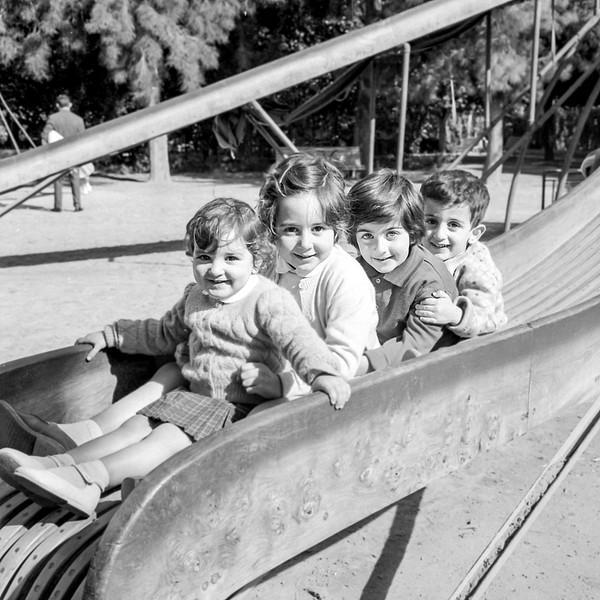 Lisita & Mercedes with cousins Mercedes & Albert - January 1960