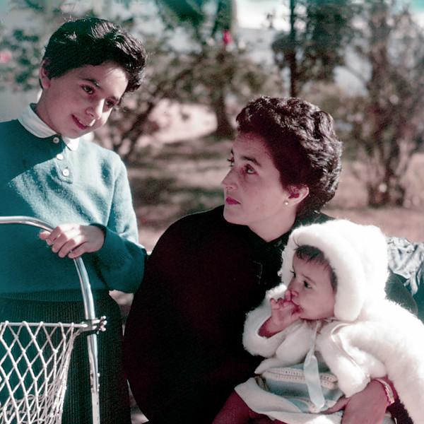 Florence with Alegria & Lisita - 1958