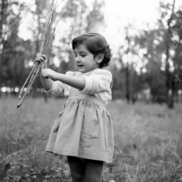 Lisita gathering sticks