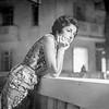 Alegria on balcony in Casablanca