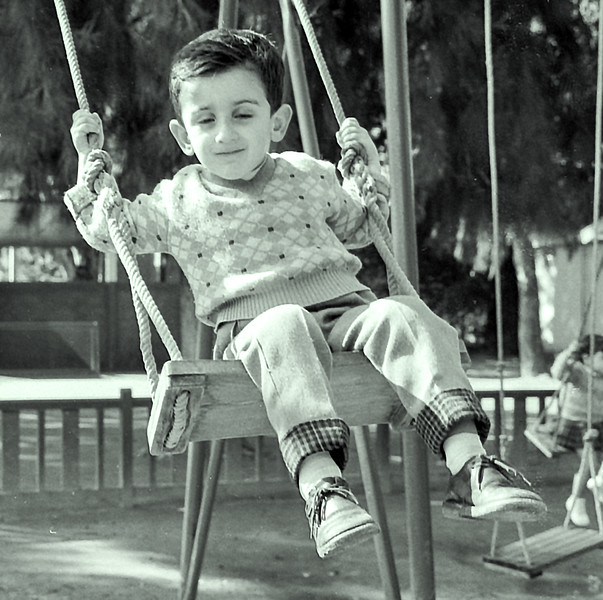 Cousin Albert on swing - 1961