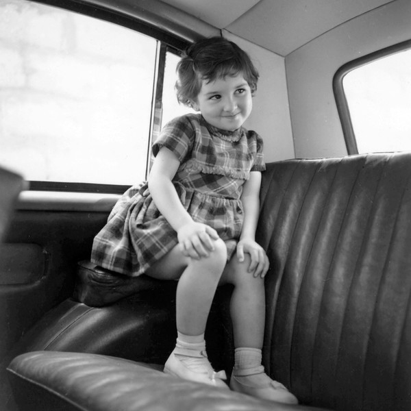 Lisita in the family car - March 1961