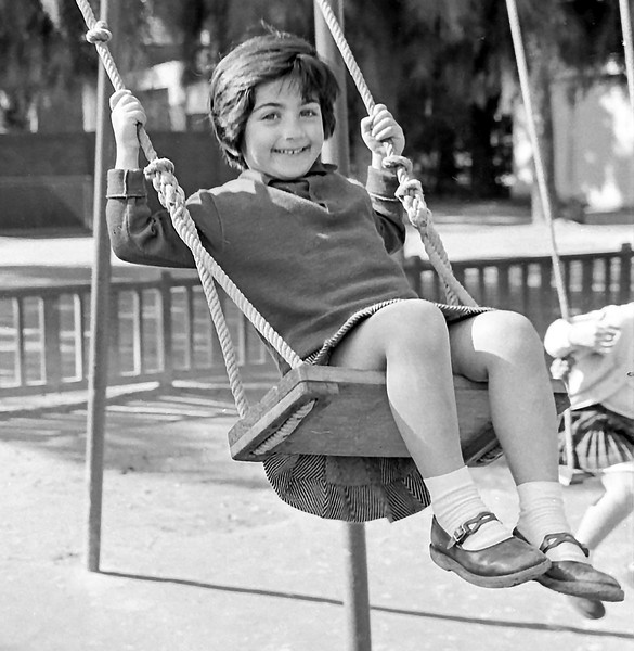 Cousin Mercedes on swing - 1961