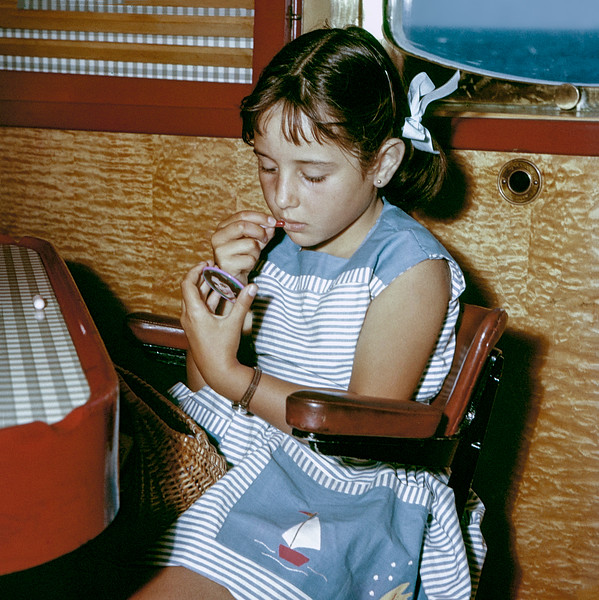Mercedes celebrates her 7th birthday on ship