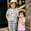 Mercedes & Lisita - Entrance to their grandparent's villa - 1961