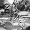 Mercedes on her bicycle - April 1961