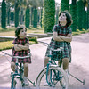 Mercedes & Lisita on their bikes - Lyautey Park - March 1961