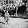 Mercedes on bike in Casablanca park